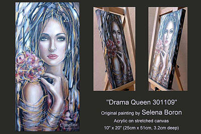 Women Painting - Drama Queen 301109 by Selena Boron