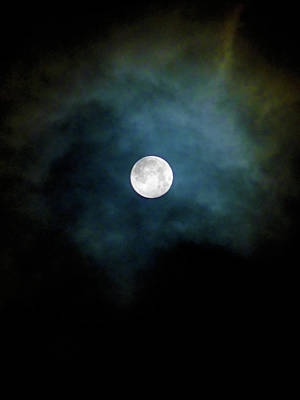 Photograph - Drama Queen Full Moon by Menega Sabidussi