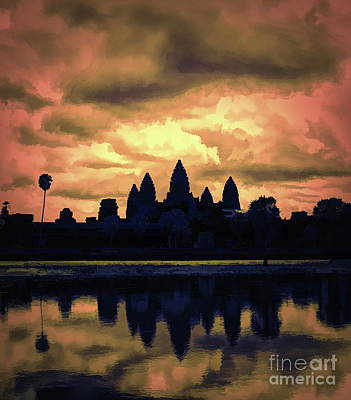 Dramatic Angkor Wat  Art Print