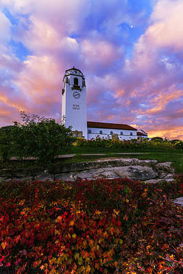Dramatic Autumn Sunrise At Boise Depot In Boise Idaho Art Print