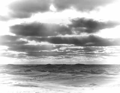 Dramatic Beachscape Art Print