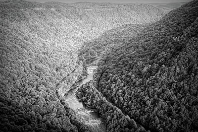 Photograph - Dramatic Black And White New River Gorge by Aimee L Maher Photography and Art Visit ALMGallerydotcom