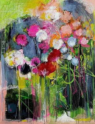 Dramatic Blooms Art Print by Nicole Slater
