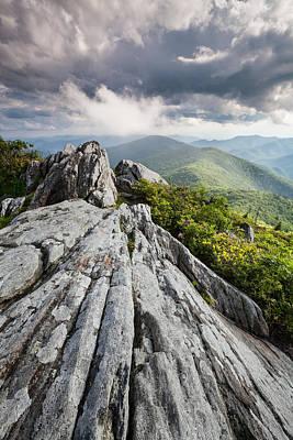 Dramatic Blue Ridge Mountain Scenic Art Print by Mark VanDyke