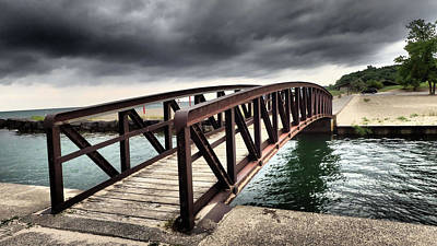 Photograph - Dramatic Bridge by Susan Jensen