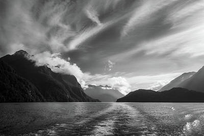 Photograph - Dramatic Clouds And Alpine Scenery At Lake Manapouri  by Daniela Constantinescu