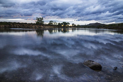 Photograph - Dramatic Clouds Over Boise River Boise Idaho by Vishwanath Bhat