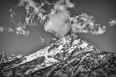 Photograph - Dramatic Clouds Over Grand Teton by Dan Sproul