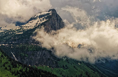 Photograph - Dramatic Clouds Over Mount Cannon by Loree Johnson
