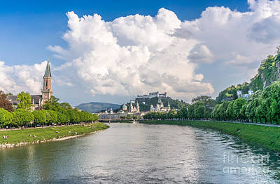 Photograph - Dramatic Clouds Over Salzburg by JR Photography