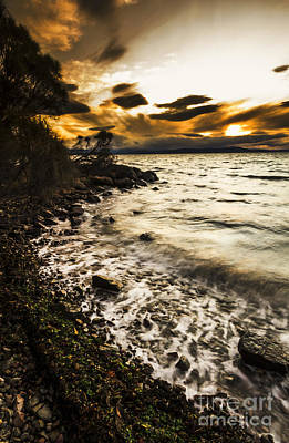 Squall Photograph - Dramatic Dark Coast by Jorgo Photography - Wall Art Gallery