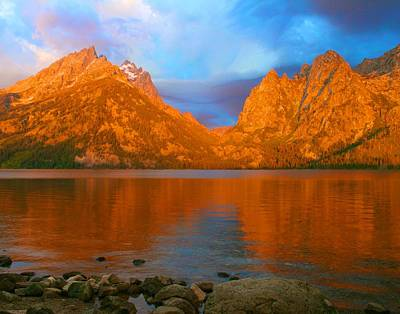Photograph - Dramatic Dawn In The Tetons by Polly Castor
