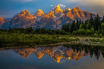 Photograph - Dramatic Grand Teton Sunrise by Serge Skiba