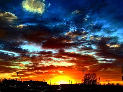 Photograph - Dramatic Kc Sunset by Michael Oceanofwisdom Bidwell