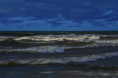 Photograph - Dramatic Lake Michigan Storm Waves by Dan Sproul