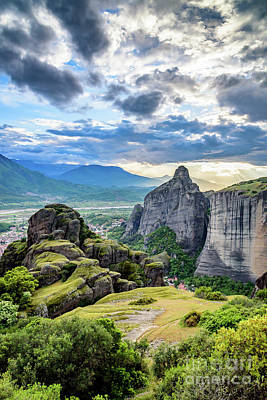 Photograph - Dramatic Landscape Of Meteora, Greece by Global Light Photography - Nicole Leffer
