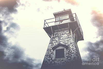 Photograph - Dramatic Lighthouse by Edward Fielding