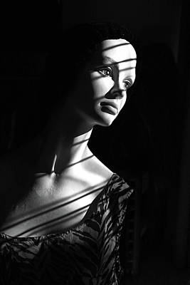 Photograph - Dramatic Lucy In Black And White by Nareeta Martin