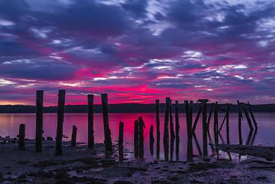 Dramatic Maine Sunrise Art Print