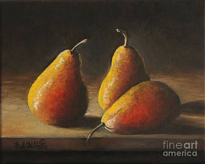 Painting - Dramatic Pears by Bob Williams