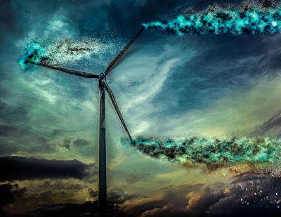 Photograph - Dramatic Wind Power by Michael Arend