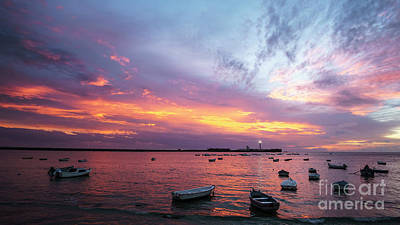 Photograph - Dramatic Sky At Dusk La Caleta Cadiz Spain by Pablo Avanzini