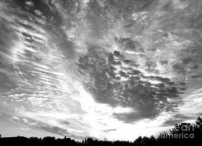 Photograph - Dramatic Sky Bw by Maria Urso