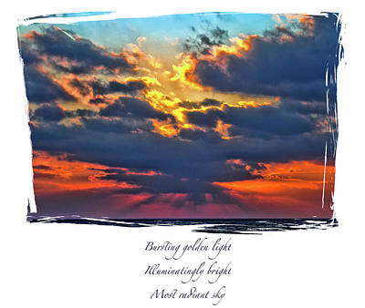 Photograph - Dramatic Sky Haiku by Constantine Gregory