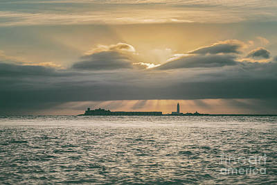Photograph - Dramatic Sky Over Hurst Castle by Clayton Bastiani