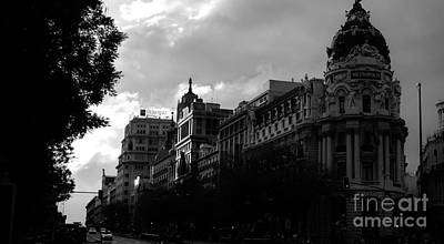 Photograph - Dramatic Sky Over Madrid / Spain by Karina Plachetka