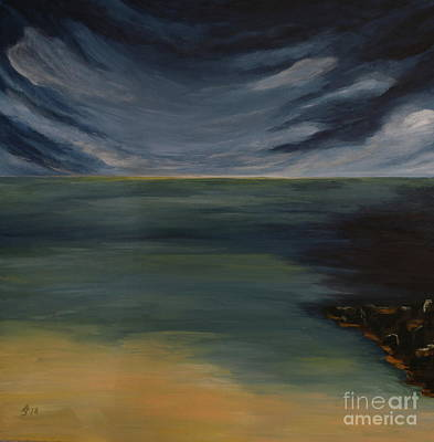 Painting - Dramatic Sky Over Tropical Beach by Christiane Schulze Art And Photography