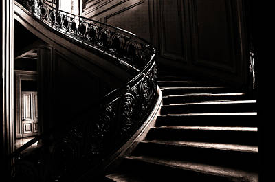 Photograph - Dramatic Stairway Scene  by Joseph Hollingsworth