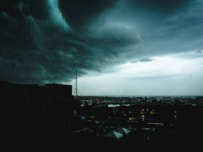 Photograph - Dramatic Storm Clouds In St. Louis, Missouri by Dylan Murphy
