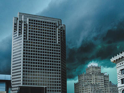Photograph - Dramatic Storm Clouds Rolling Into St. Louis, Mo by Dylan Murphy