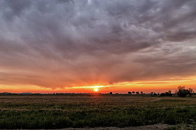 Photograph - Dramatic Sunrise In Colorado by Tony Hake