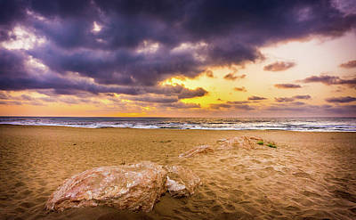 Photograph - Dramatic Sunrise, La Mata, Spain. by Gary Gillette