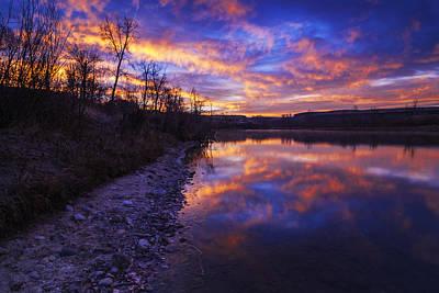 Photograph - Dramatic Sunrise Over Boise River In Boise Idaho Usa by Vishwanath Bhat