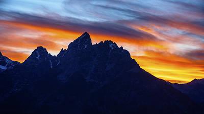 Photograph - Dramatic Sunrise Over Grand Teton Range by Vishwanath Bhat