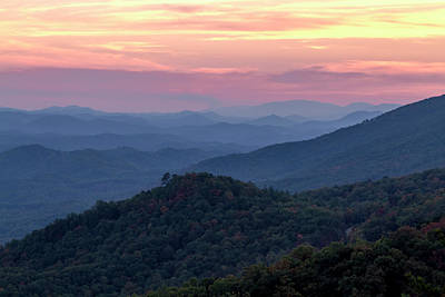 Photograph - Dramatic Sunset In The Smokies by Teri Virbickis