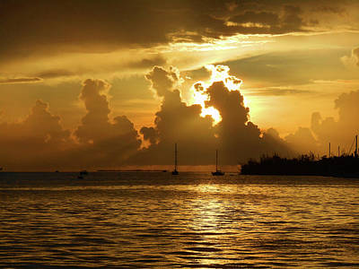 Photograph - Dramatic Sunset Key West by Irina Sztukowski