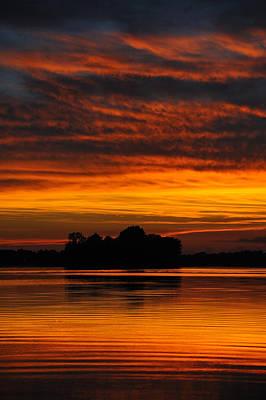 Dramatic Sunset Art Print by M James McAdams