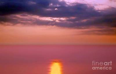 Photograph - Dramatic Sunset Over The Taiwan Strait by Yali Shi
