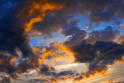 Photograph - Dramatic Sunset by Polly Castor