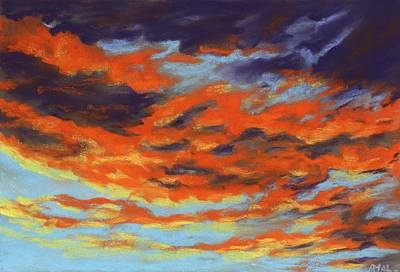 Sunset Painting - Dramatic Sunset - Sky And Clouds Collection by Anastasiya Malakhova