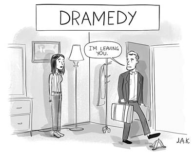 Drawing - Dramedy by Jason Adam Katzenstein