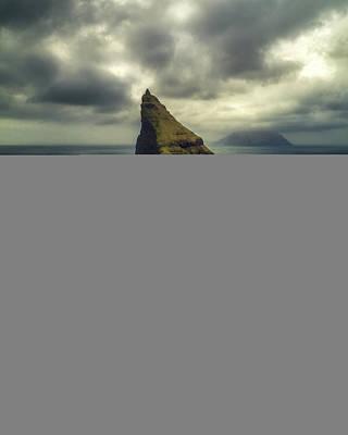 Dramatic Photograph - Drangarnir Aerial by Tor-Ivar Naess