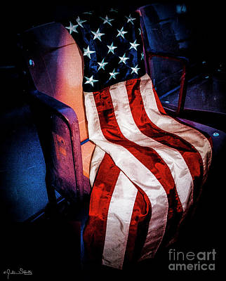 Draped American Flag Art Print by Julian Starks