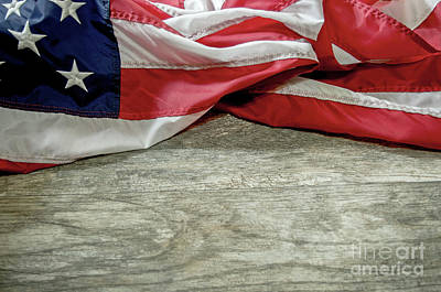 Photograph - Draped Flag by Liz Masoner
