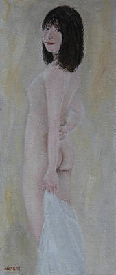 Painting - Draped Nude by Masami Iida