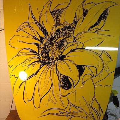 #draw #drawbig #sunflower Original